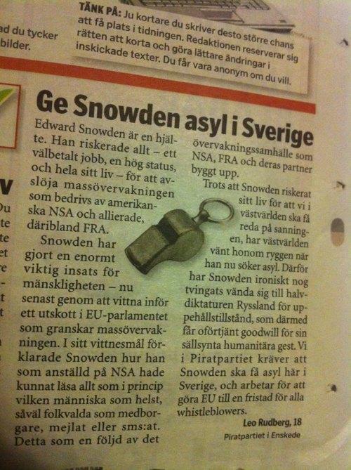 Insändaren publicerad i Tidningen Årsta/Enskede 15 mars 2014.