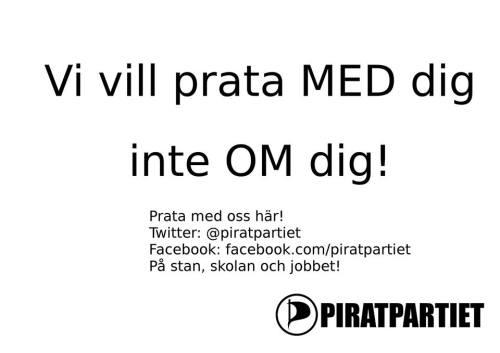 Prata med Piratpartiet!